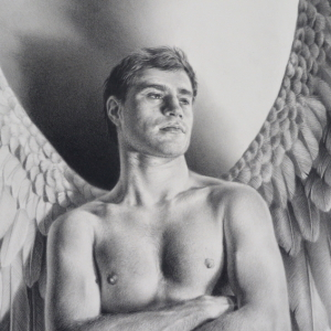 Icarus Drawing by Andrew Denman