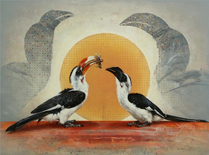 Von der Decken's Hornbills by Andrew Denman
